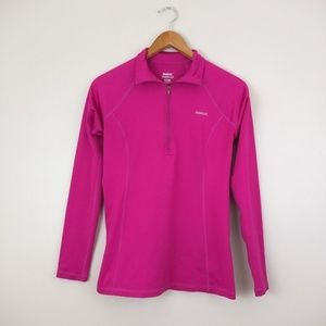 Reebok half zip pink lightweight jacket Medium